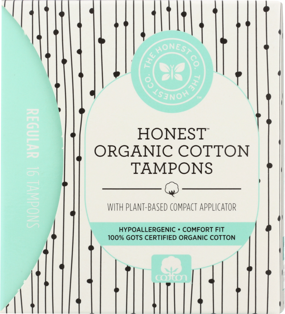 THE HONEST COMPANY: Tampons Cotton Application, 16 pc