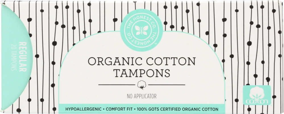 THE HONEST COMPANY: Tampons Cotton Regular, 20 pc
