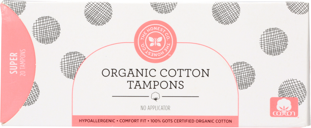 THE HONEST COMPANY: Tampons Cotton Supper, 20 pc