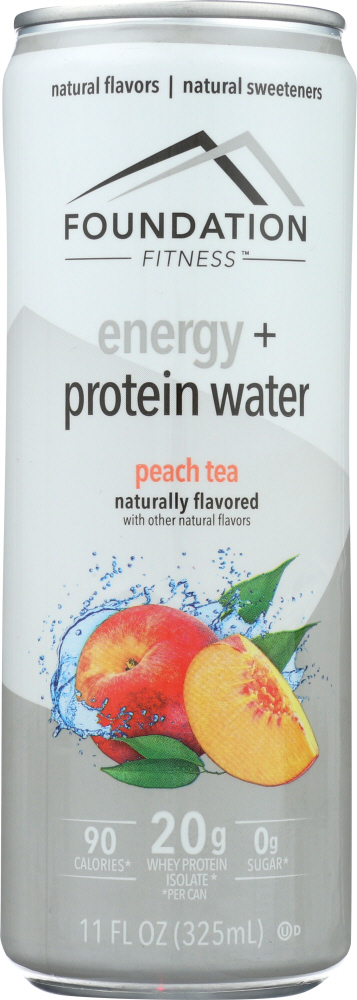 FOUNDATION FITNESS: Energy & Protein Water Peach Tea, 11 oz