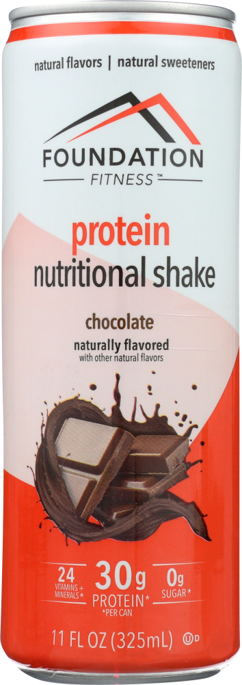 FOUNDATION FITNESS: Shake Chocolate 30g, 11 oz