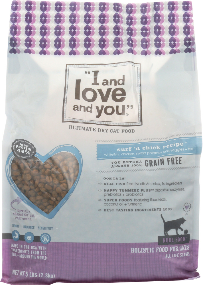 I&LOVE&YOU: Cat Food Nude Surf N Chicken, 5 lb