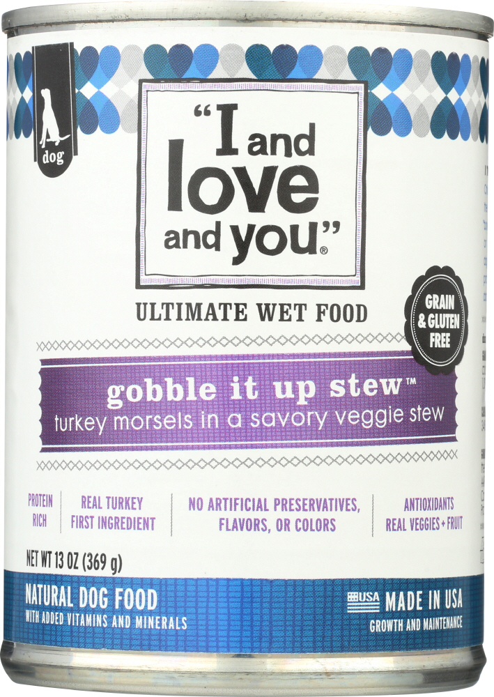 I&LOVE&YOU: Dog Food Can Gobble It Up Stew, 13 oz