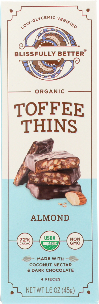 BLISSFULLY BETTER: Chocolate Almond Toffee, 1.6 oz