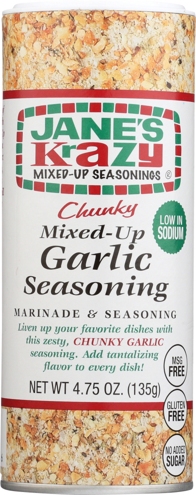 JANES: Chunky Mixed-Up Garlic Seasoning, 4.75 oz