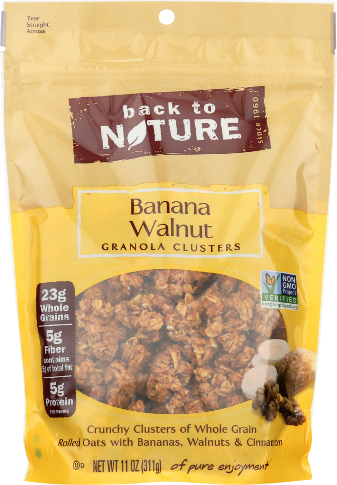 BACK TO NATURE: Granola Clusters Banana Walnut, 11 Oz