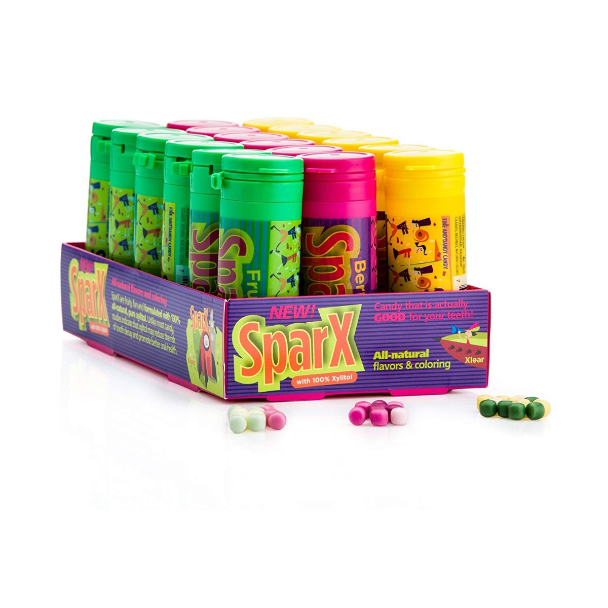 SPARX: Candy Mixed Flavor, 18 pc
