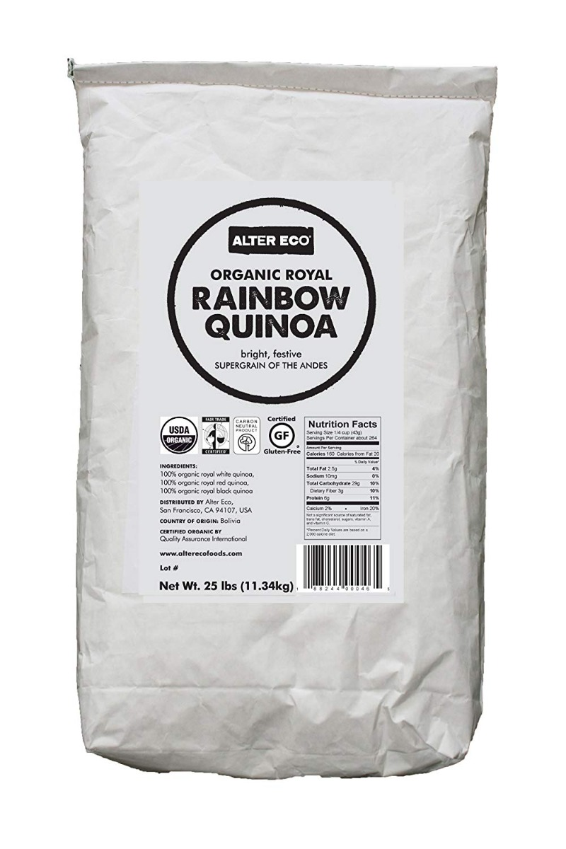ALTER ECO: Organic Royal Rainbow Quinoa, 25 lb