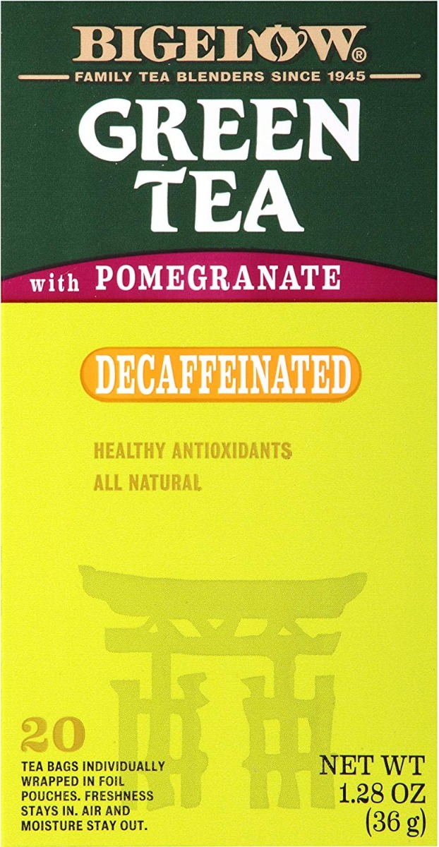 BIGELOW: Green Tea with Pomegranate Decaf 20 Bags, 1.28 oz