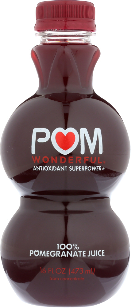 POM WONDERFUL: Juice Pomegranate 100%, 16 oz