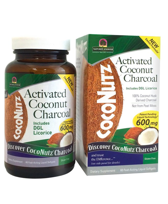 NATURES ANSWER: Activated Coconut Charcoal, 60 sg