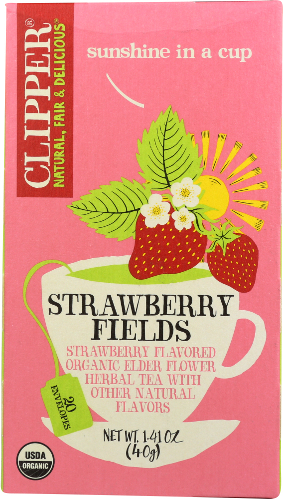CLIPPER: Organic Strawberry Fields Tea, 1.41 oz