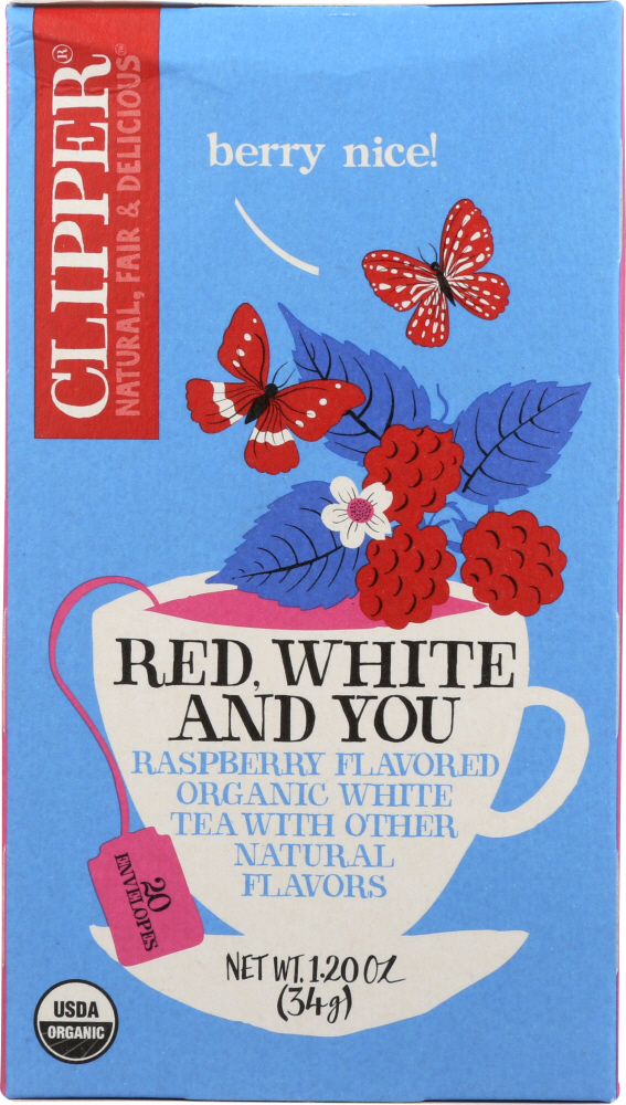 CLIPPER: Organic Red White & You Tea, 1.20 oz