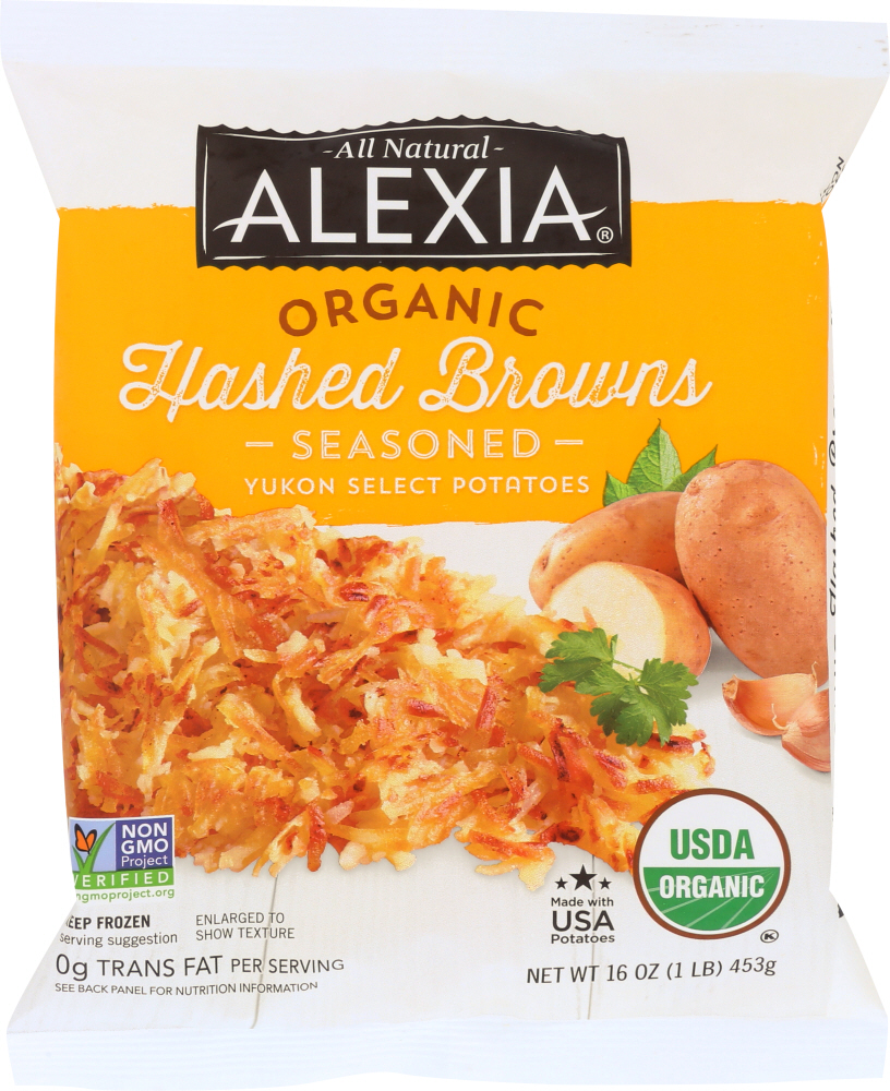 ALEXIA: Hashed Browns Gold Potatoes With Seasoned Salt, 16 oz