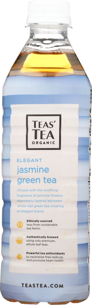 TEAS' TEA: Organic Unsweetened Jasmine Green Tea, 16.9 oz