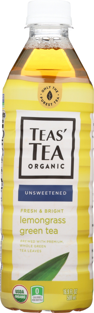 TEAS TEA: Tea Green Lemongrass Organic, 16.9 fo