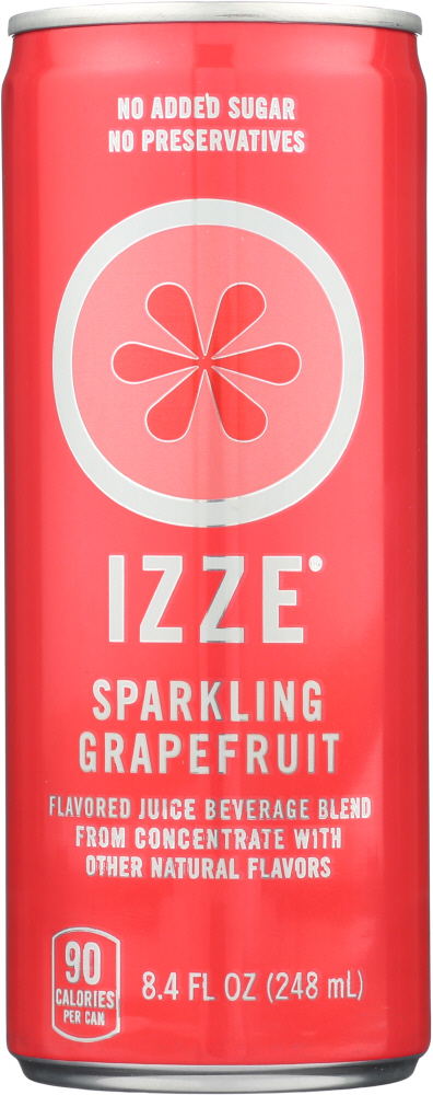 IZZE BEVERAGE: Sparkling Juice Grapefruit, 8.4 fl oz