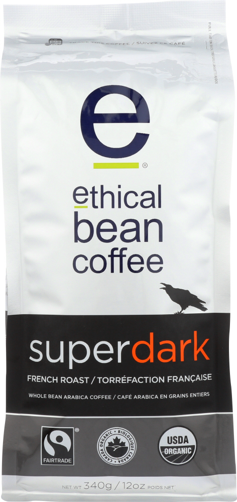 ETHICAL BEAN: Coffee Whole Super Dark French Roast, 12 oz