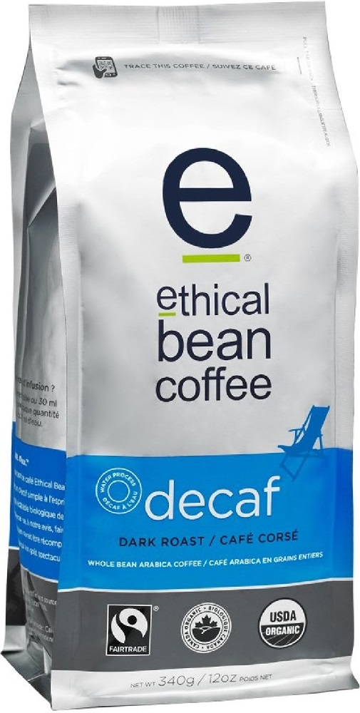 ETHICAL BEAN: Coffee Dark Roast Decaf, 12 oz