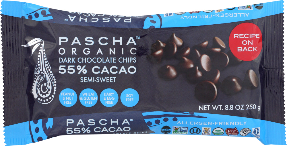 PASCHA: Chocolate Baking Chip 55% Cacao, 8.8 oz