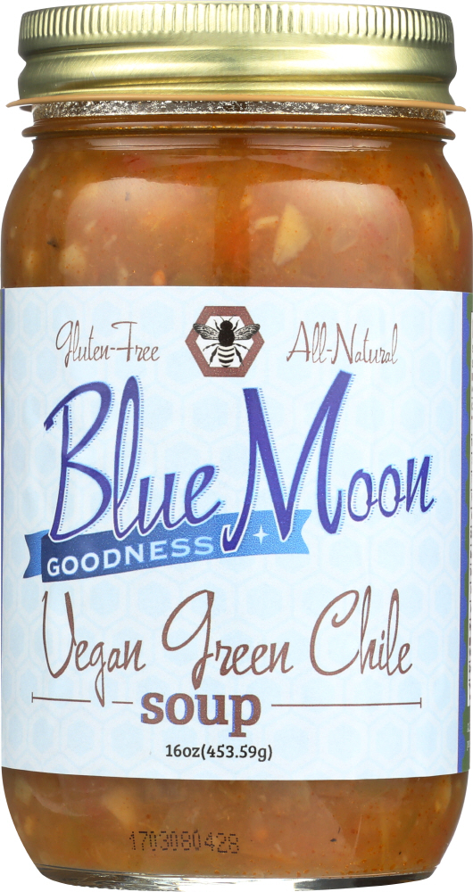 BLUE MOON GOODNESS: Soup Green Chile Vegan, 16 oz