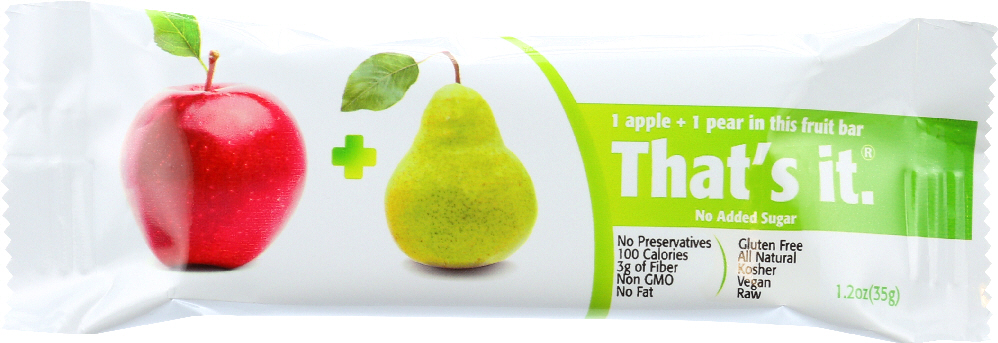 THAT'S IT: Apple & Pear Nutrition Bar, No Sugar Added, 1.2 oz