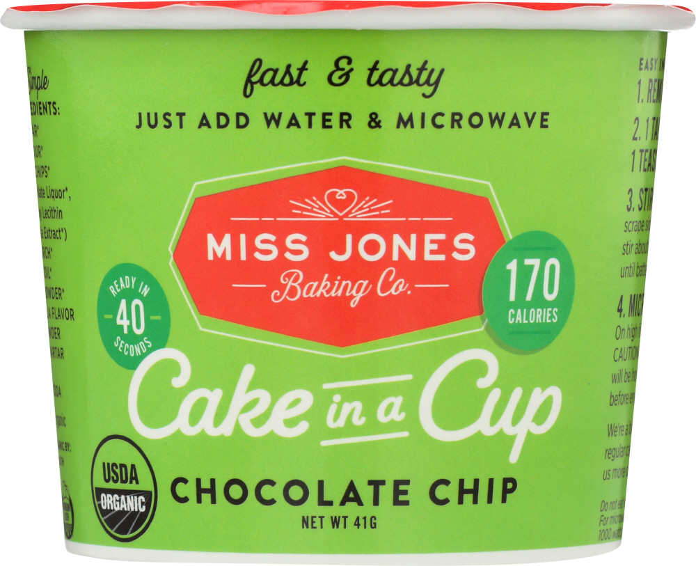 MISS JONES BAKING CO: Cake in a Cup Chocolate Chip, 1.45 oz