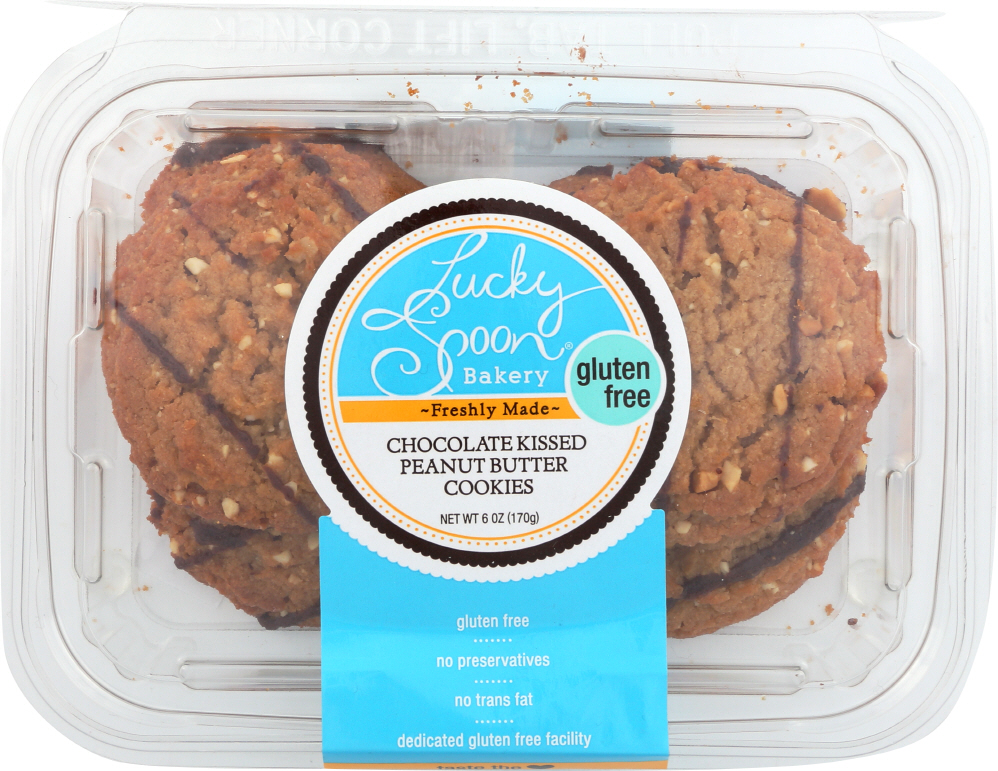 LUCKY SPOON: Cookies Chocolate Kissed Peanut Butter, 6 oz
