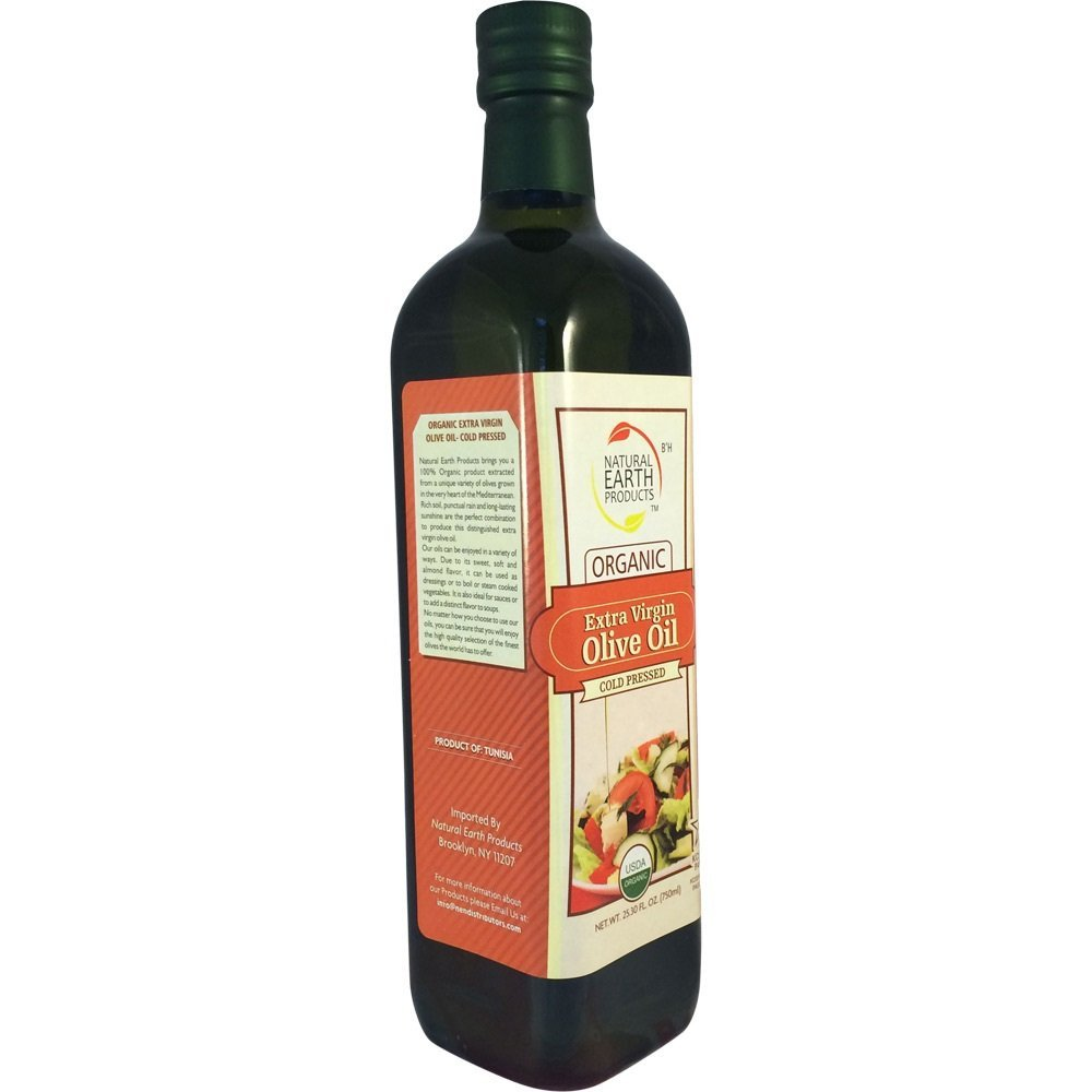 NATURAL EARTH: Organic Extra Virgin Olive Oil, 750 ml