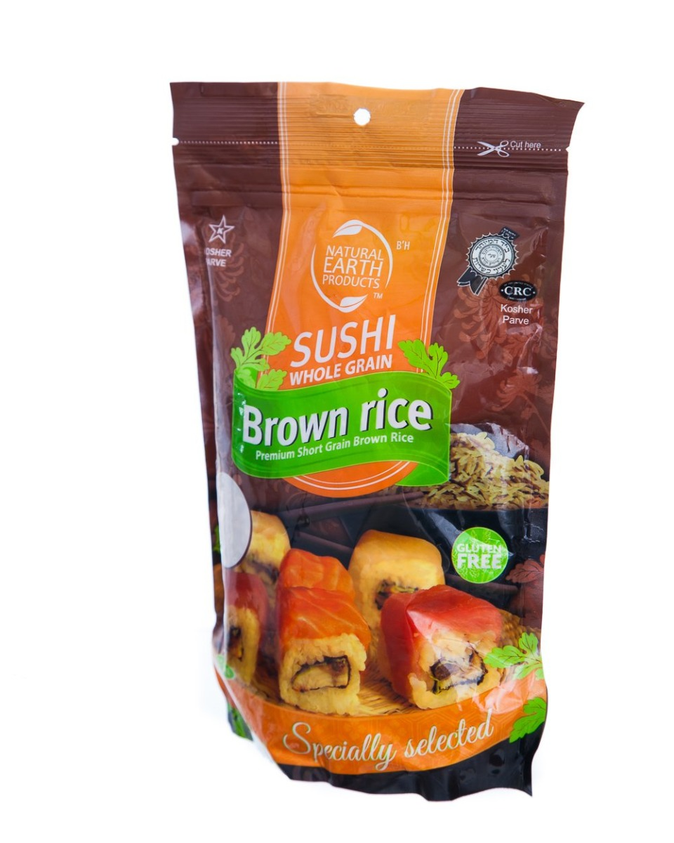 NATURAL EARTH: Whole Grain Brown Sushi Rice, 16 oz