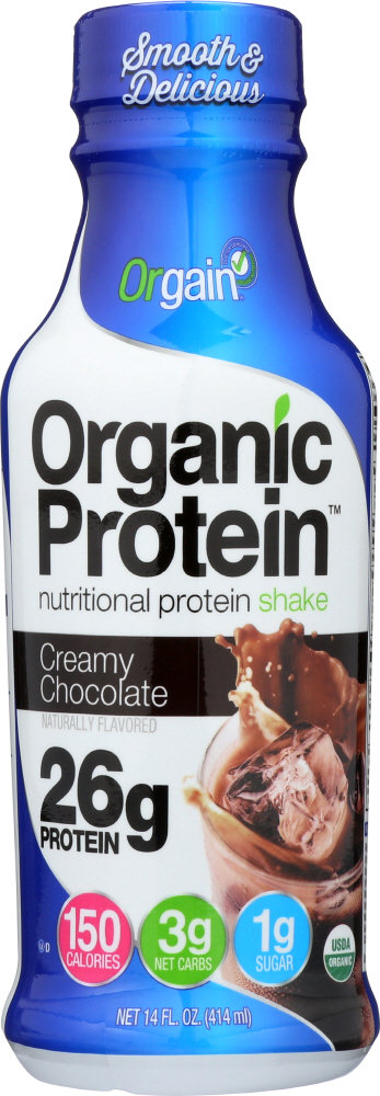 ORGAIN: Ready to Drink Creamy Chocolate Shake, 14 oz