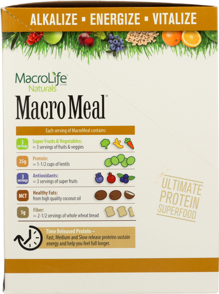 MACROLIFE NATURALS: Vegan Chocolate Macro Meal, 10 pack