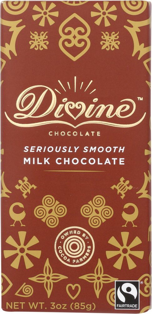 DIVINE CHOCOLATE:  Milk Chocolate Bar, 3 oz