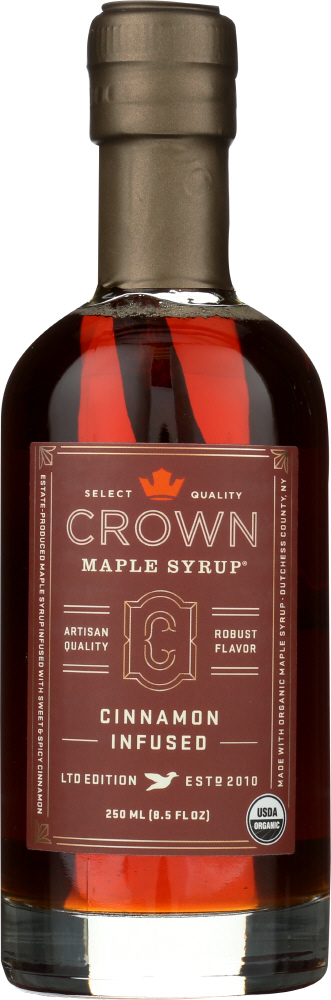 CROWN MAPLE: Cinnamon Infused Maple Syrup, 8.5 fo