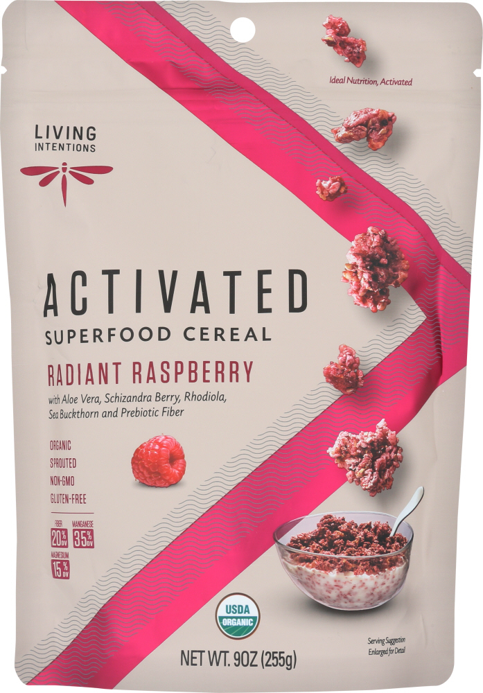LIVING INTENTIONS: Radiant Raspberry Superfood Cereal, 9 oz