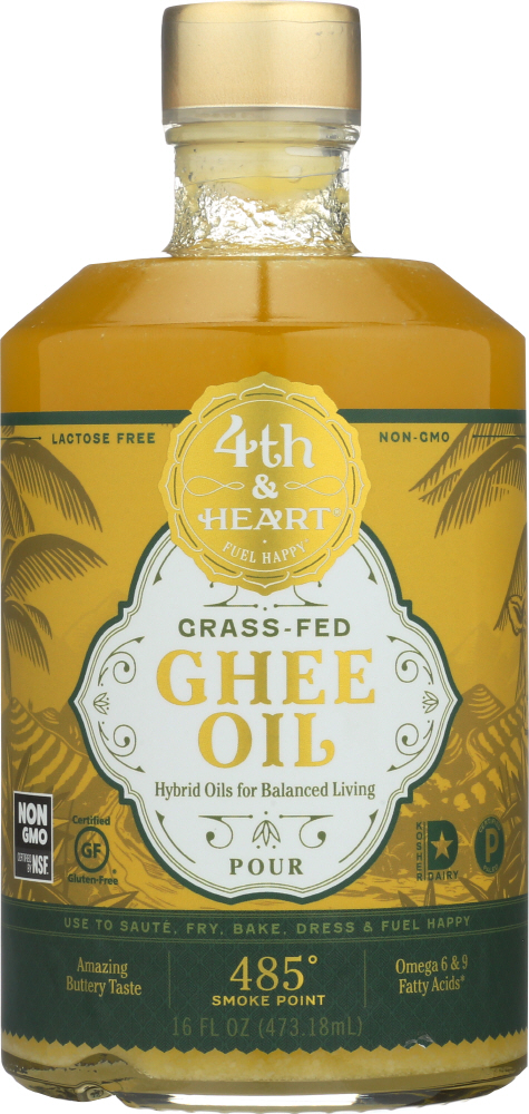 4TH & HEART: Pourable Ghee Oil, 16 fl oz