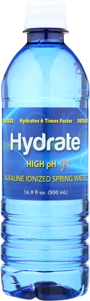 HYDRATE: Water Alkaline Ionized High Ph, 16.9 oz