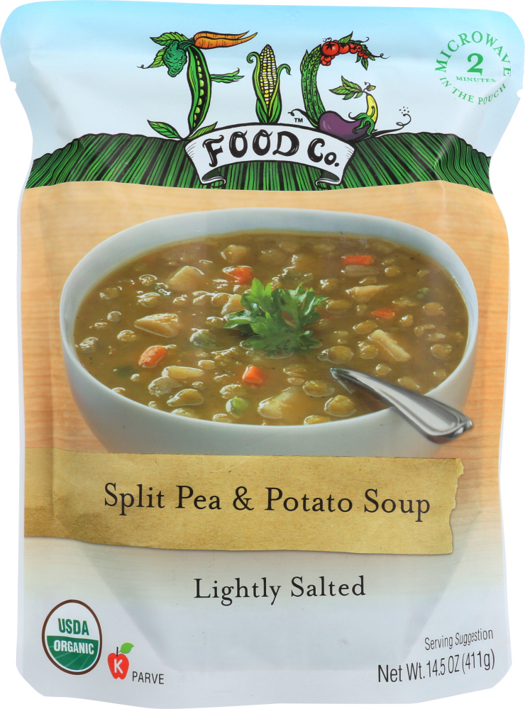 FIG FOOD: Soup Split Pea Potato Organic, 14.5 oz