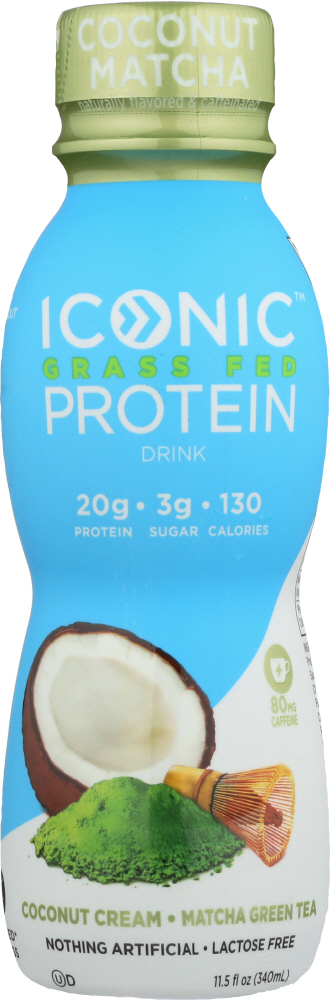 ICONIC: Protein Drink Coconut Matcha, 11.5 oz