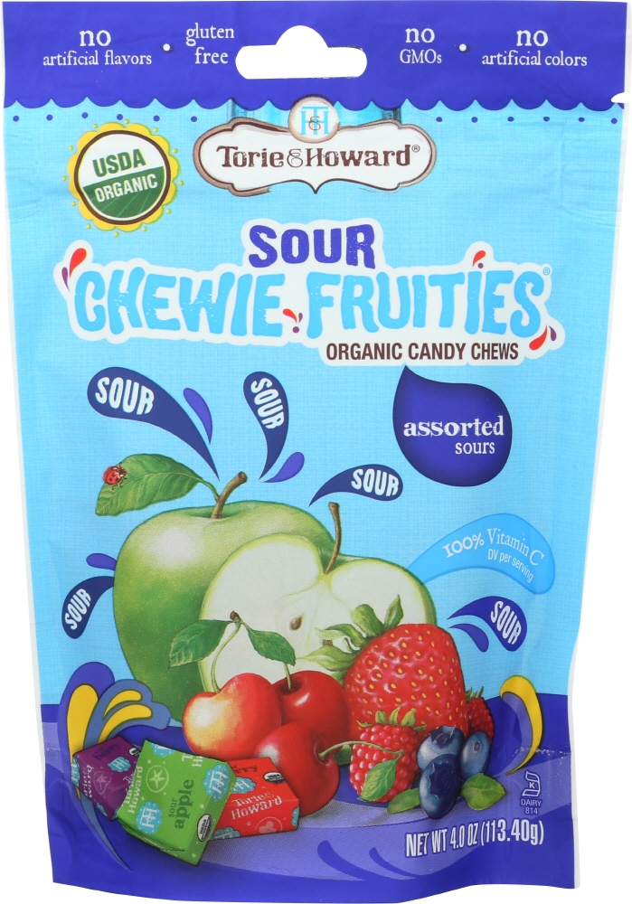TORIE & HOWARD: Candy Fruit Chew Sour Assorted Bag, 4 oz