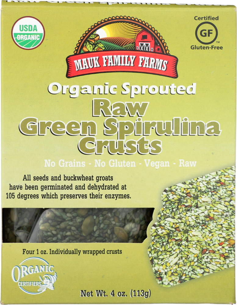 MAUK FAMILY FARMS: Raw Green Spirulina Crusts, 4 oz