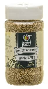 NATURAL EARTH: White Roasted Sesame Seeds, 4 oz