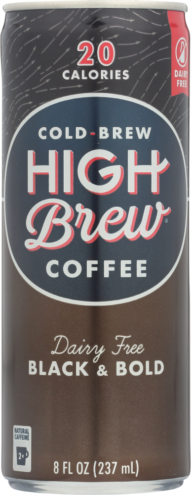 HIGH BREW: Coffee Dairy Free Black & Bold, 8 oz