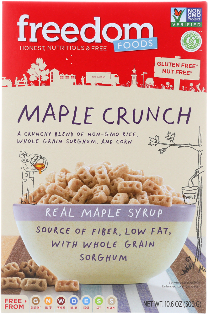 FREEDOM FOODS: Maple Crunch Cereal Gluten Free, 10.6 oz