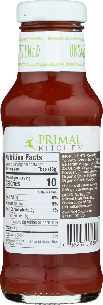 PRIMAL KITCHEN: Ketchup Unsweetened Spicy Organic, 11.3 oz