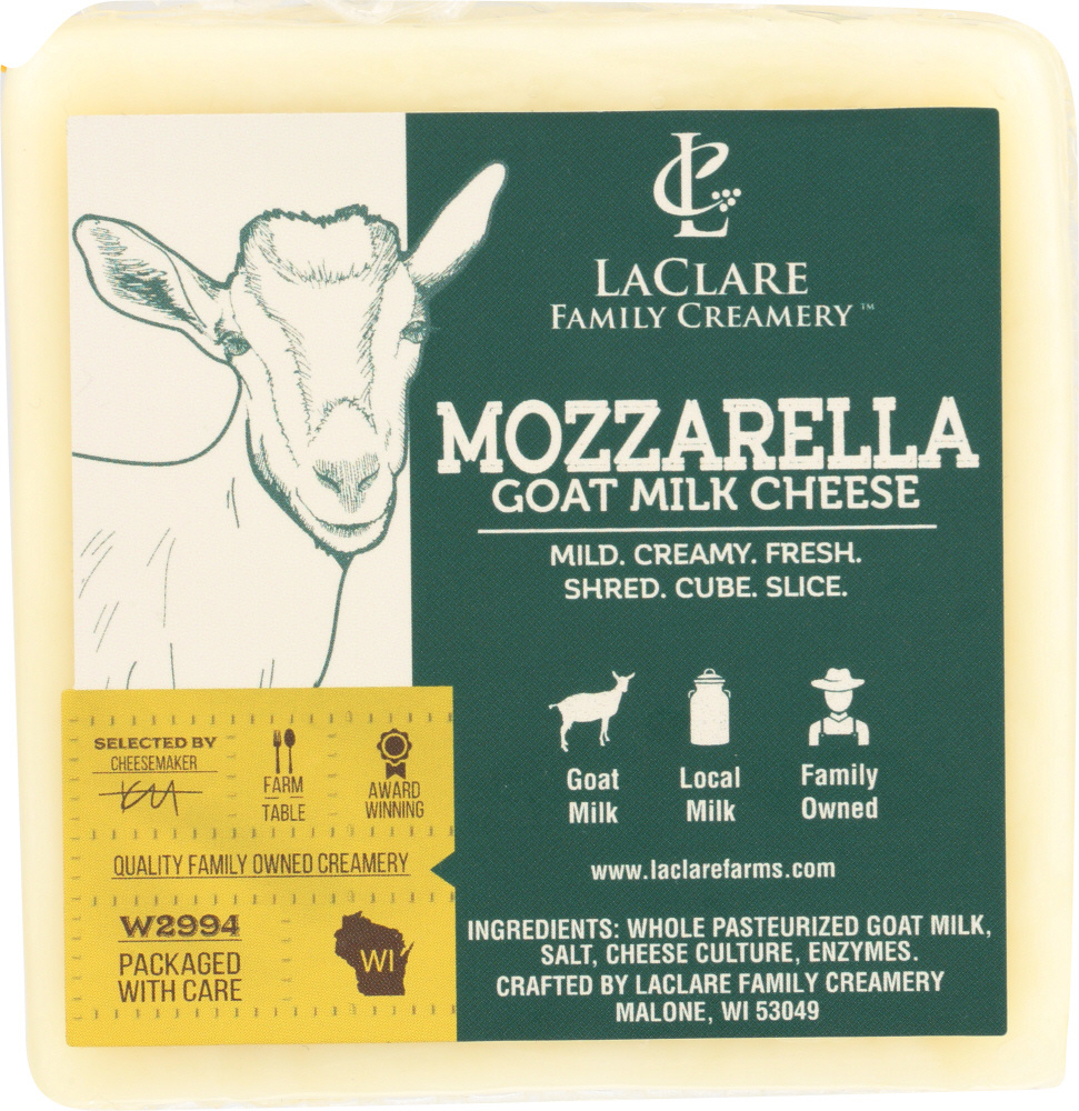 LACLARE FARMS: Cheese Goat Mozzarella With Milk, 6 oz