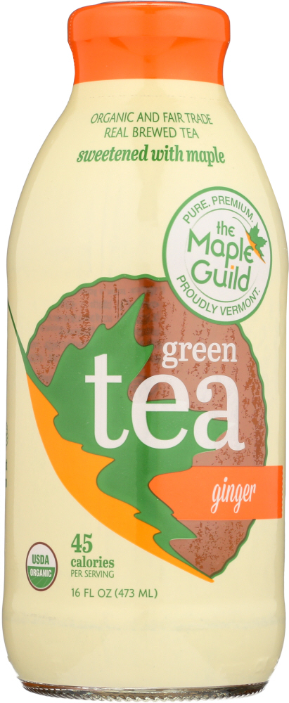 THE MAPLE GUILD: Green Iced Tea Ginger, 16 fo