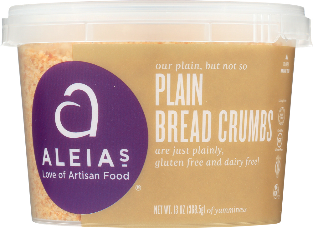 ALEIAS: Bread Crumbs Plain Gluten Free, 13 oz