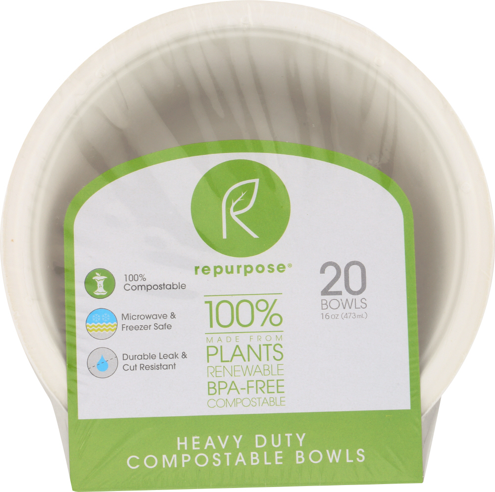 REPURPOSE: Eco-Friendly Tree Free Paper Bowls, 20 count