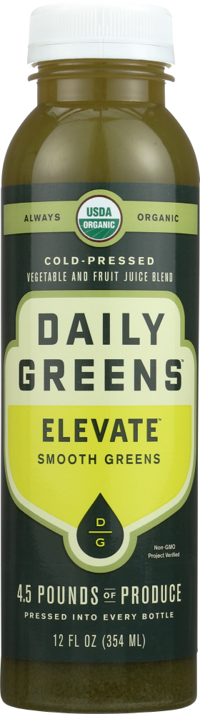 DRINK DAILY GREENS: Elevate Smooth Greens Cold Pressed, 12 fl oz